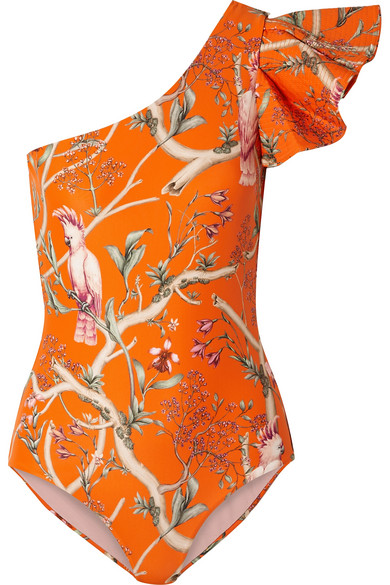 45a52cd6f118b Johanna Ortiz | Santa Barbara ruffled one-shoulder printed swimsuit ...