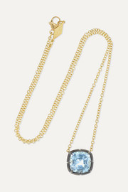 Fred Leighton Collection 18-karat gold, sterling silver and topaz necklace