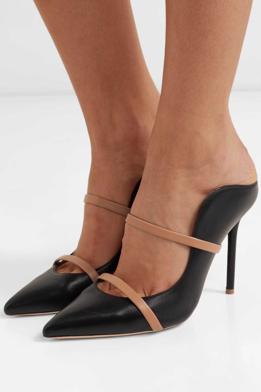 Black Maureen 100 leather mules