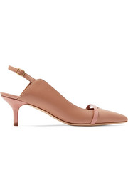 Marion 45 leather slingback pumps