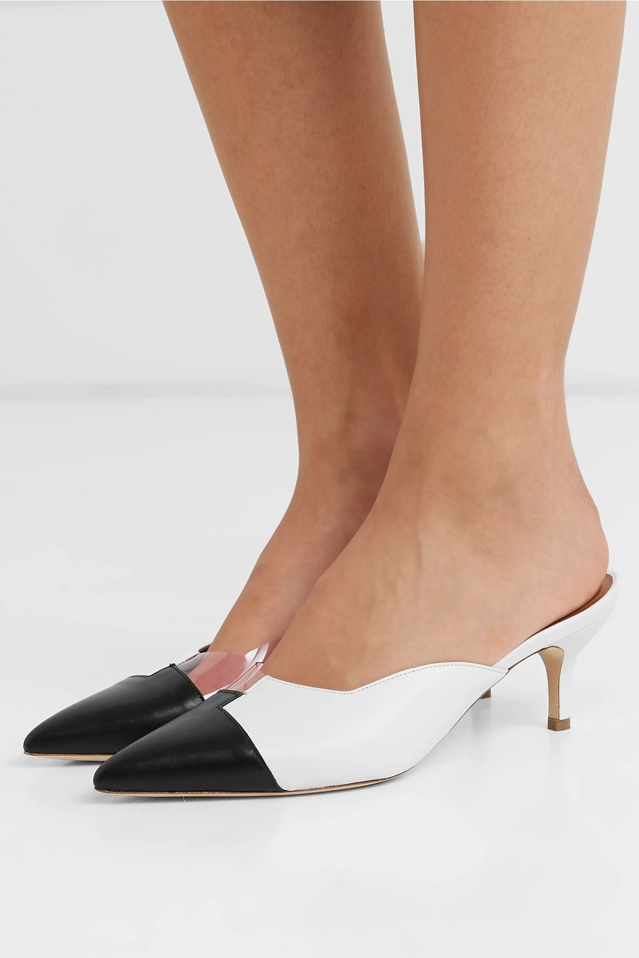 Malone Souliers Blake 45 leather and PVC mules