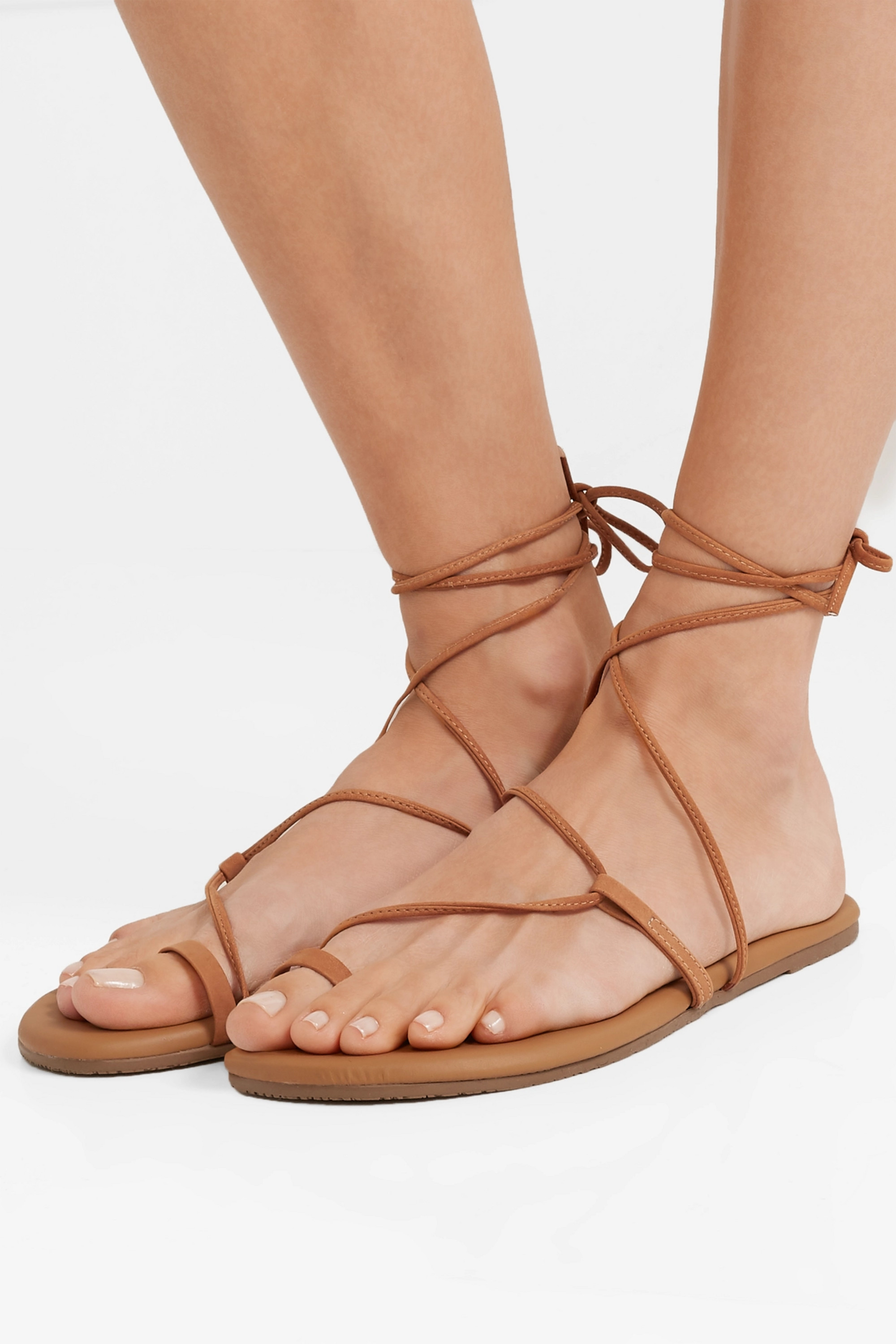TKEES Jo suede and leather sandals