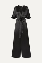 The Keri twist-front silk-charmeuse jumpsuit