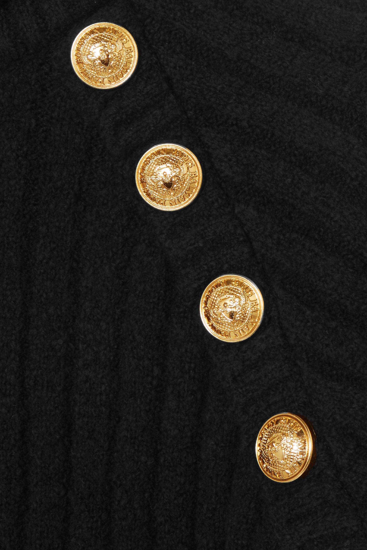 Balmain 纽扣缀饰罗纹棉质混纺高领毛衣