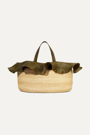 Rosie Assoulin Two-tone straw tote
