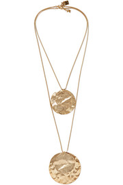 Hammered gold-tone necklace
