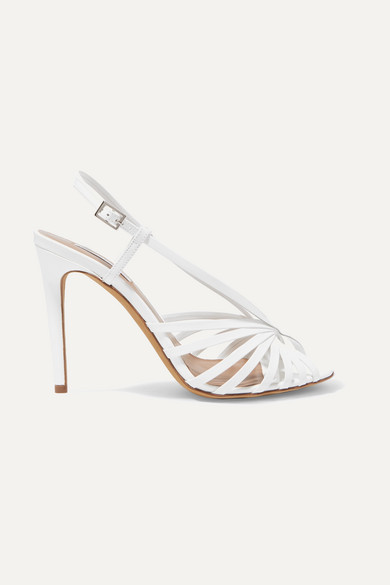 Women'S Jazz Strappy Slingback High-Heel Sandals in White