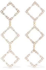 Luci gold-tone crystal earrings