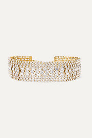 Luci gold-tone crystal choker