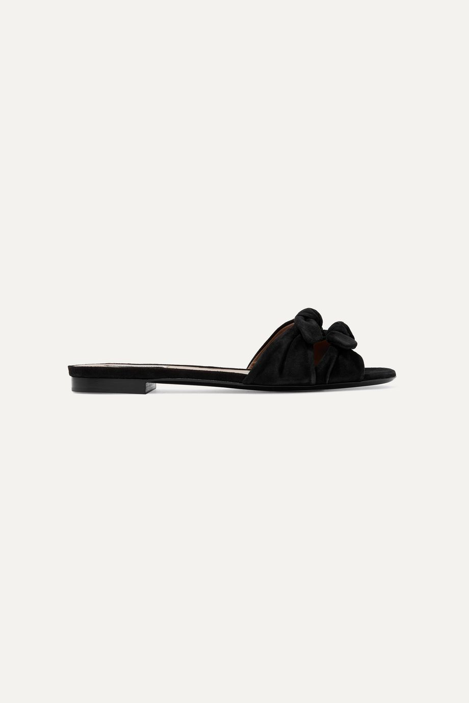 Tabitha Simmons Cleo bow-embellished suede slides