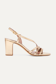 Charlie metallic leather sandals