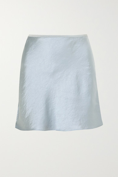 Crinkled Satin Mini Skirt by T By Alexander Wang