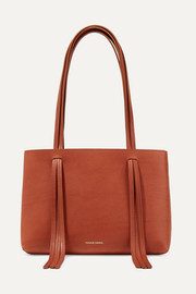 Mansur Gavriel East West mini fringed leather tote
