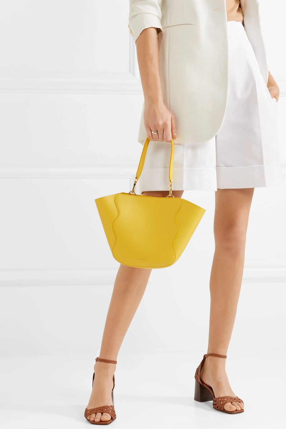 Mansur Gavriel Ocean mini leather tote