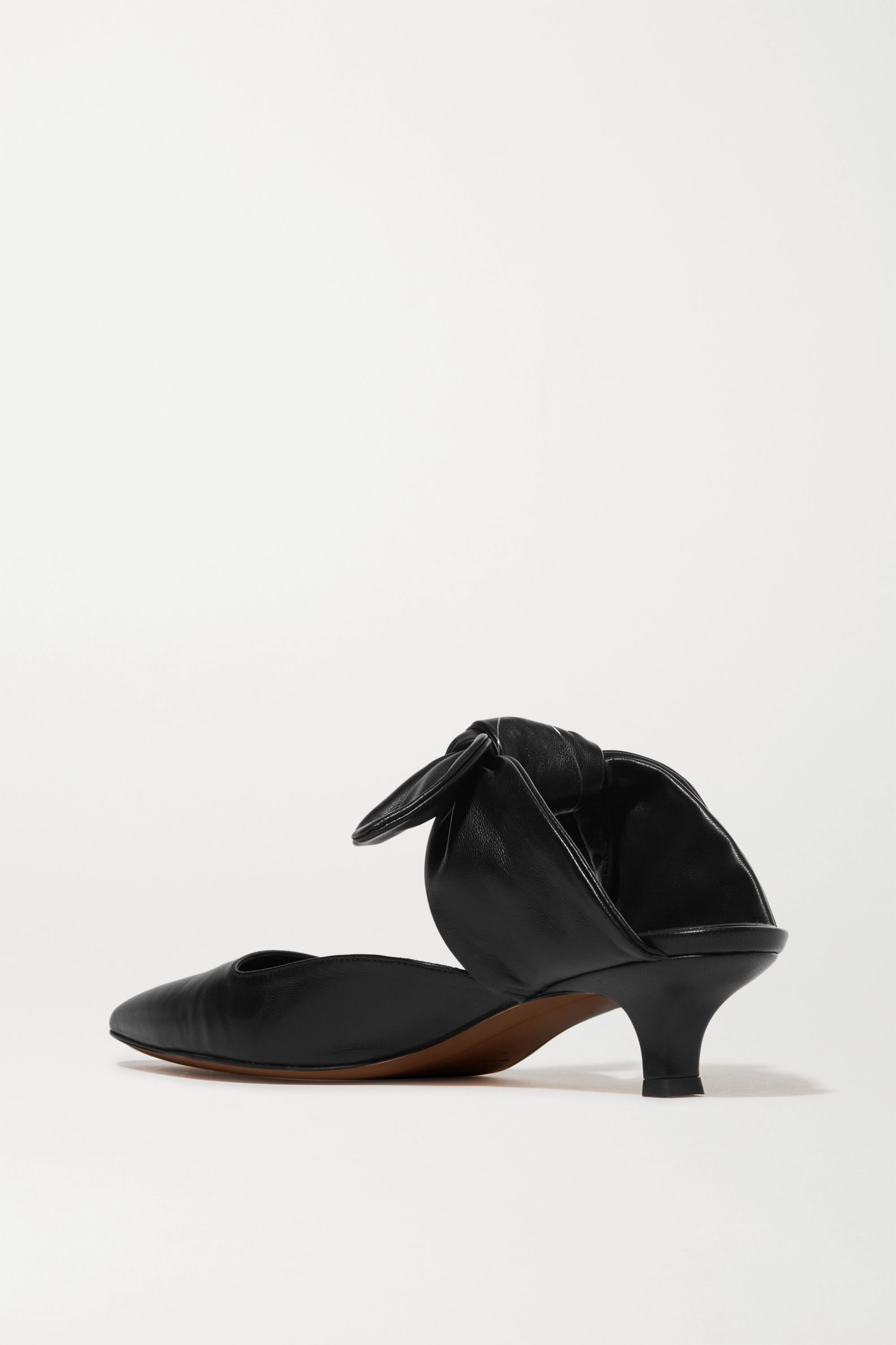 The Row Coco leather mules