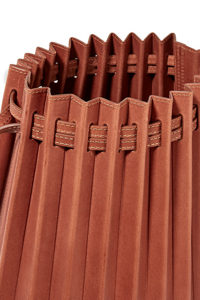 5dcfa086b Mansur Gavriel | Pleated leather bucket bag | NET-A-PORTER.COM