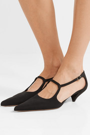 The Row Bourgoise Salome silk-faille pumps