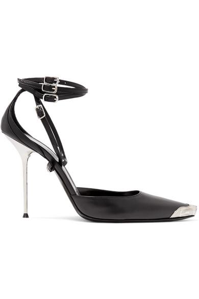 Selena Ankle Wrap Pump in Black