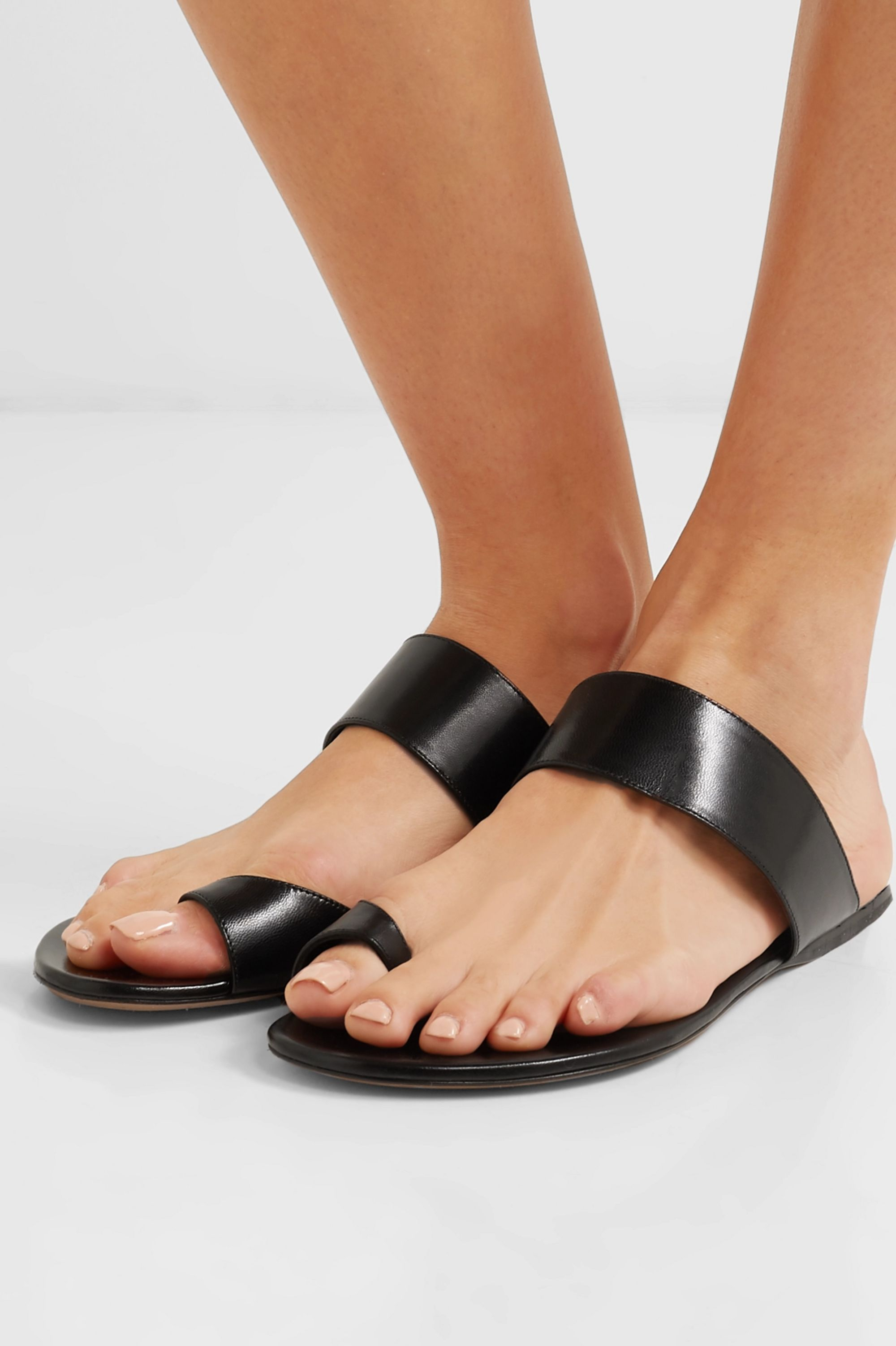 The Row Infradito leather sandals