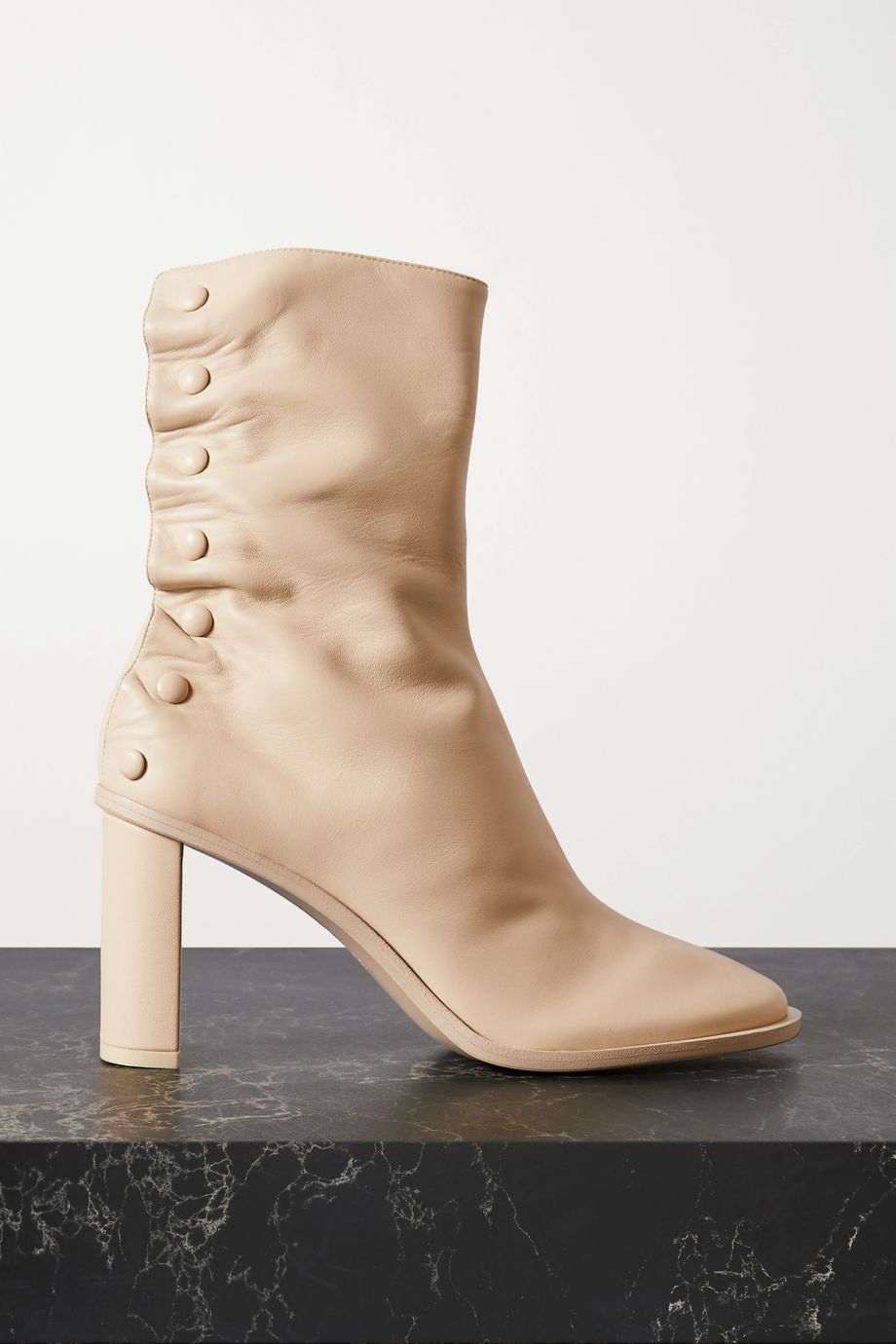 The Row Teatime 85mm leather ankle boots