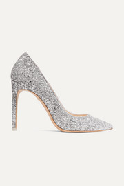 Rio glittered leather pumps