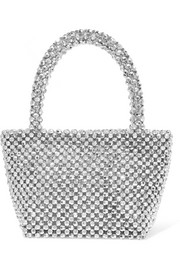 Mina beaded satin tote