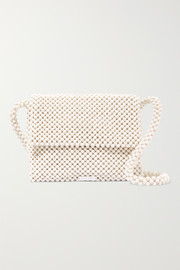 Roz beaded satin shoulder bag