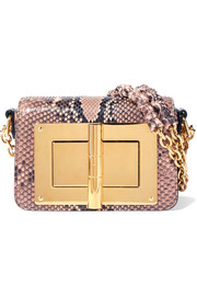 TOM FORD Natalia mini python shoulder bag