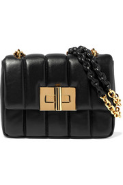 Natalia large quilted leather shoulder bag