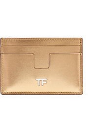 Metallic leather cardholder