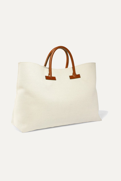 Tom Ford Bags T leather-trimmed printed canvas weekend bag