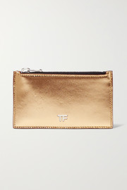 TOM FORD Metallic leather cardholder