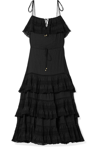juniper-tiered-lace-trimmed-pintucked-cotton-voile-midi-dress by zimmermann