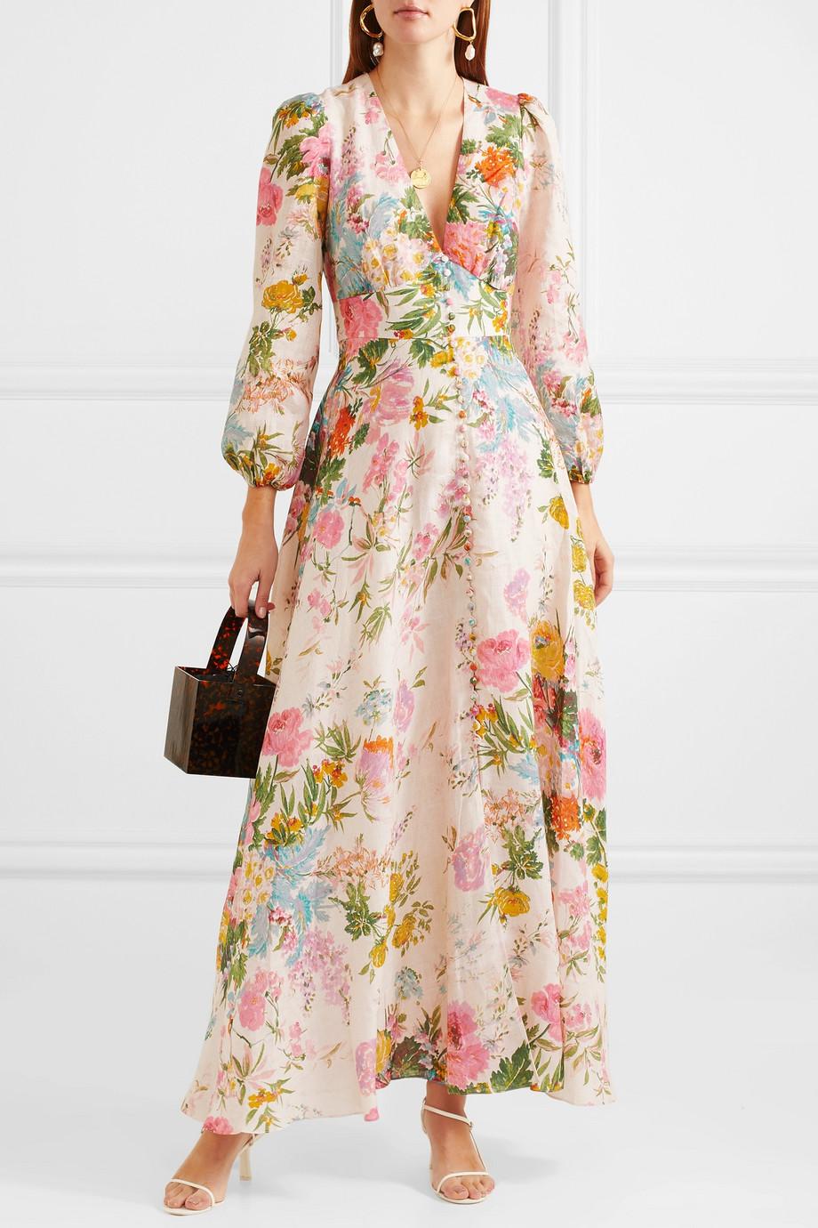 edd2d8508e9 Zimmermann Heathers floral-print linen maxi dress