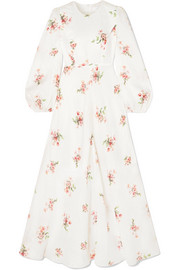 Heathers floral-print cotton-voile maxi dress