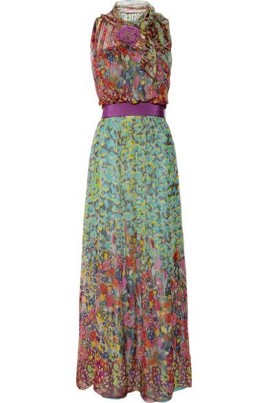 Philosophy di Lorenzo Serafini  Printed silk-chiffon maxi dress ...