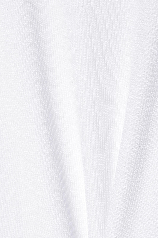 ATM Anthony Thomas Melillo Ribbed stretch-Micro Modal thong bodysuit