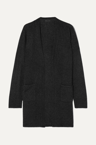 Cashmere Open Cardigan in Charcoal