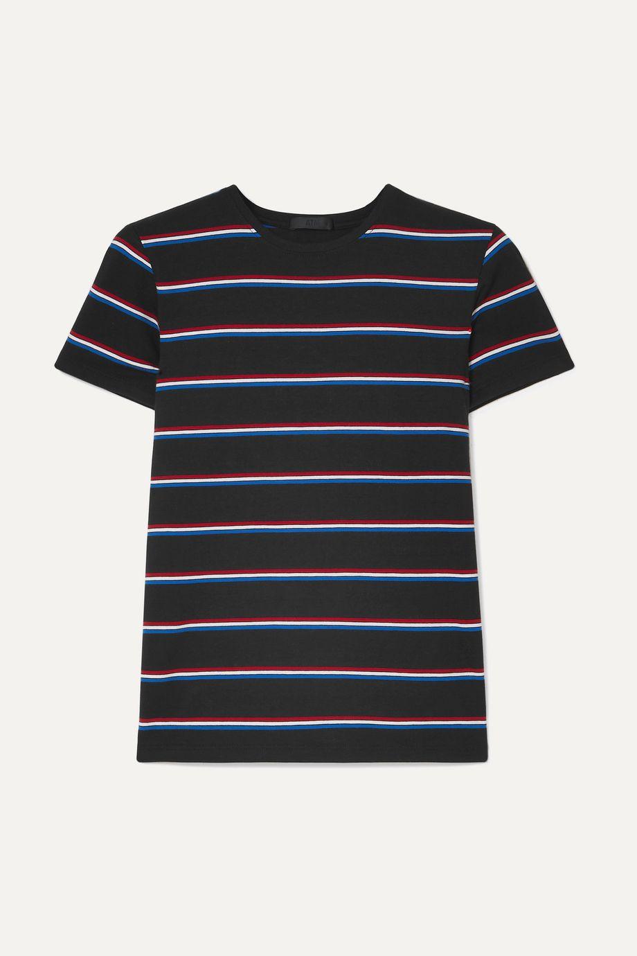 ATM Anthony Thomas Melillo Striped stretch-Pima cotton jersey T-shirt