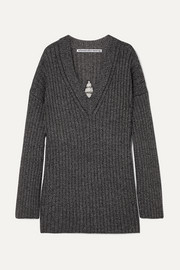 Alexander Wang Dream Catcher embellished cutout ribbed wool-blend sweater