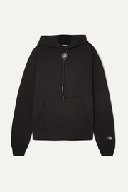 Alexander Wang Embellished cotton-blend jersey hoodie