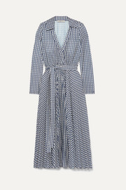 Printed stretch-jersey wrap dress