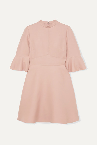 Wool And Silk Blend Cady Mini Dress by Valentino