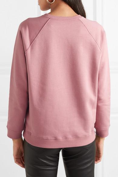 Valentino Shirts Printed cotton-blend jersey sweatshirt