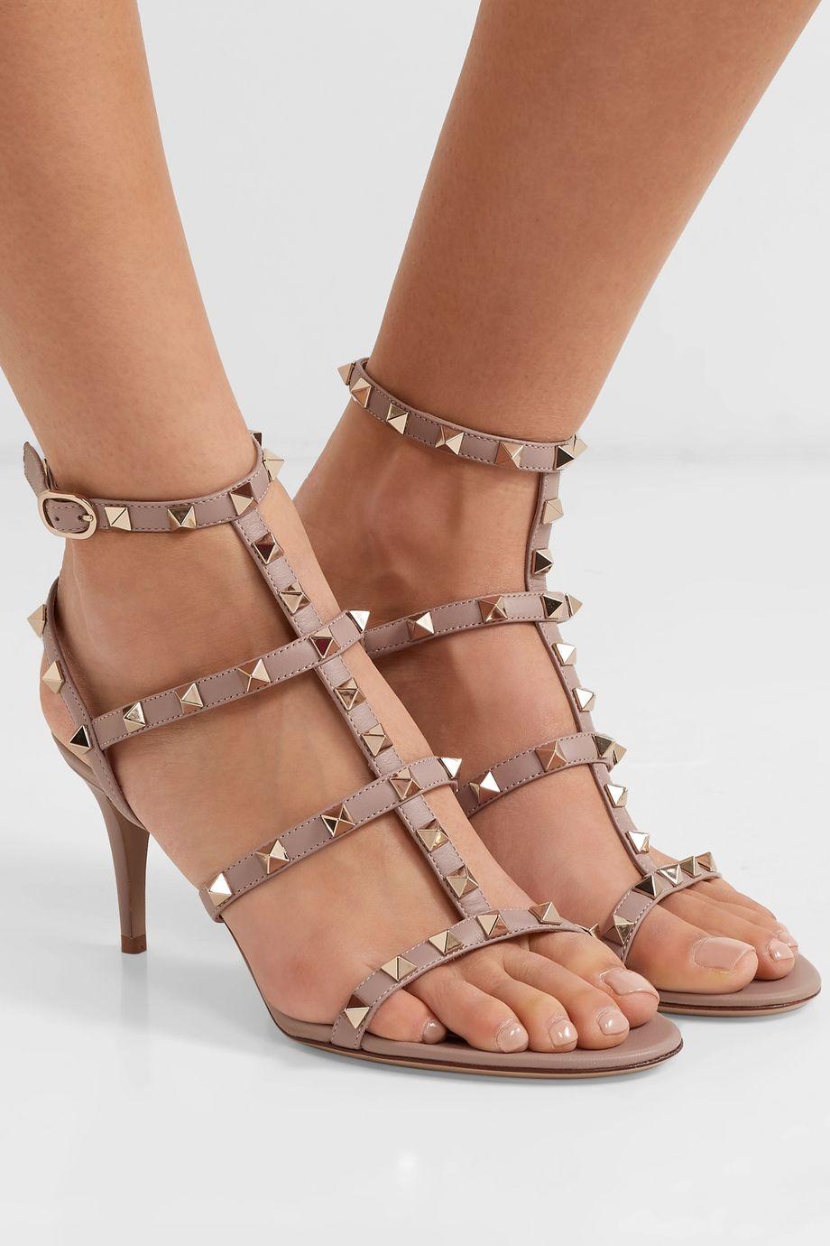Valentino Valentino Garavani Rockstud 70 leather sandals