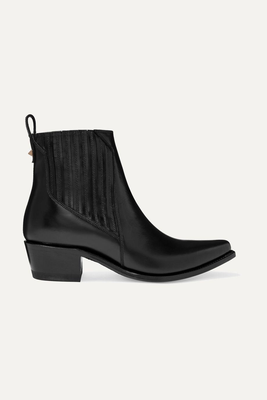 Valentino Valentino Garavani Ranch 40 leather ankle boots
