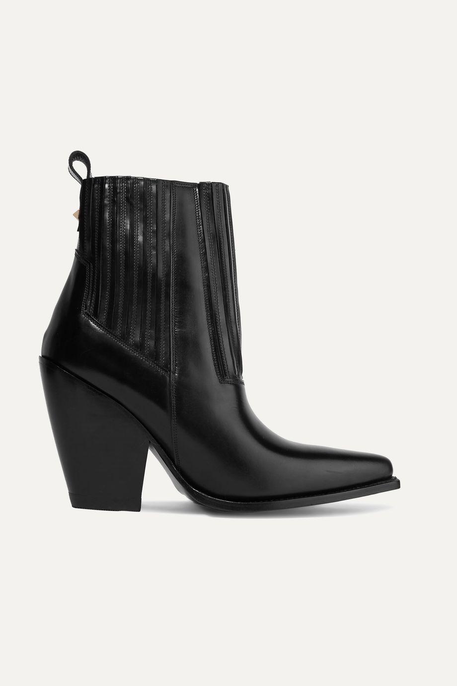 Valentino Valentino Garavani Ranch 95 leather ankle boots