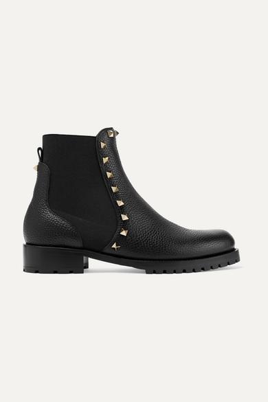 Rockstud Chelsea Boot in Black