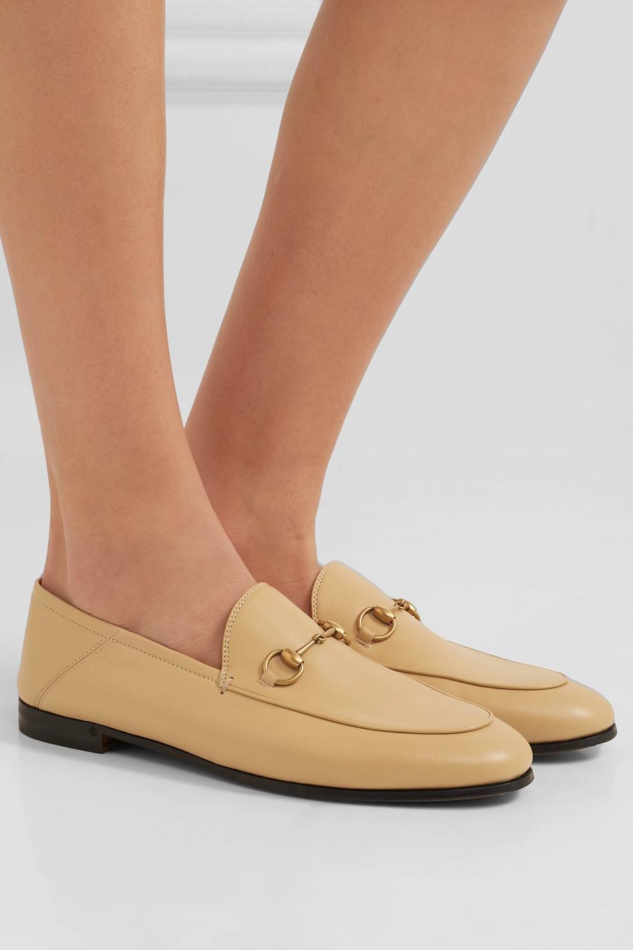 Gucci Brixton 马衔扣细节折叠式后跟皮革乐福鞋