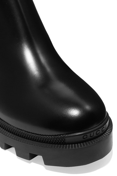 ed79d9d9 Gucci | Crystal-embellished leather Chelsea boots | NET-A-PORTER.COM